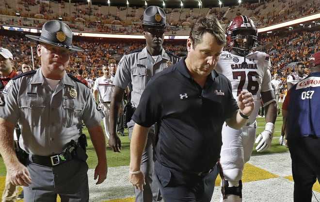 As South Carolina prepares to travel to Texas A&M this weekend, Gamecock head coach Will Muschamp has had to read public critique and buyout discussion from both the university's president and board members.