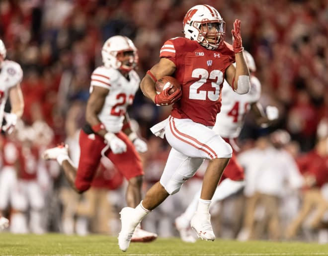 Patterson leads MI  to 31-13 rout of Wisconsin