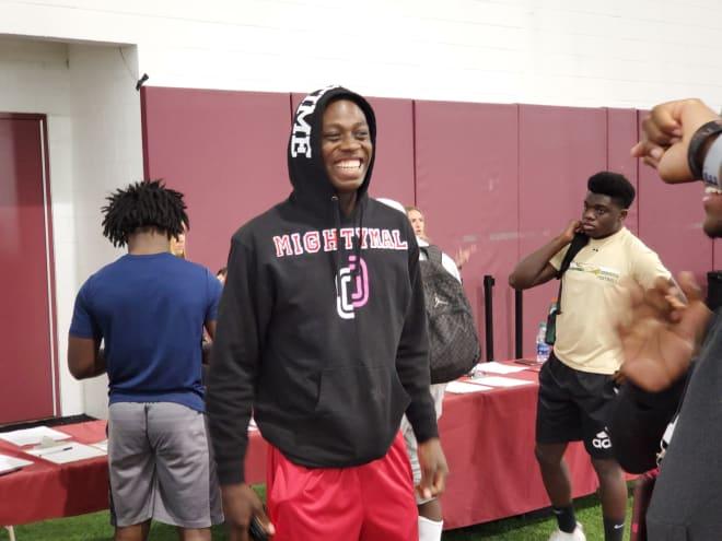 Warchant - Two-sport star Wideman soaks up visit to FSU as a Seminole commit