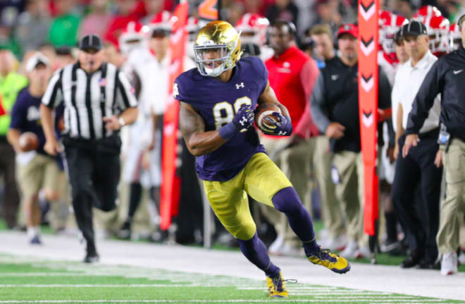 Notre Dame suspends TE Alize Mack, 3rd player scratched from Citrus Bowl