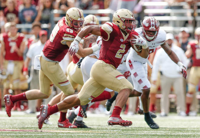 Boston College running back A.J. Dillon