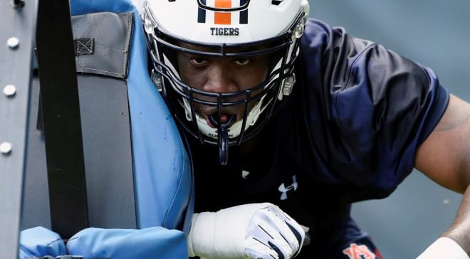 AuburnSports - Brodarious Hamm making early case to be 6th man of Auburn's OL