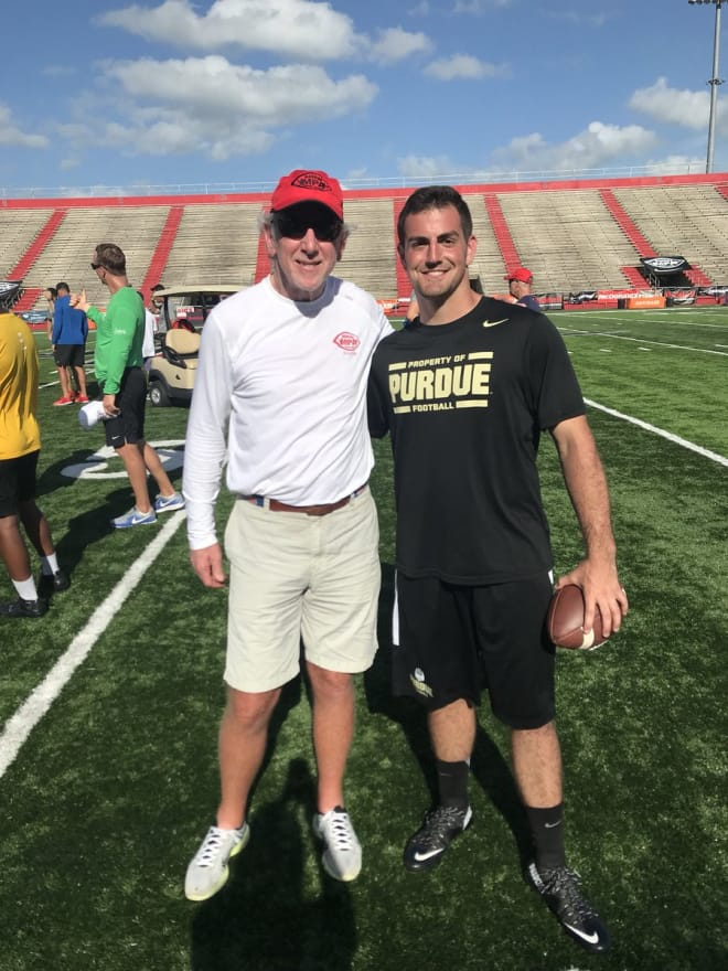 Blough is at his second Manning Passing Academy, after receiving a personal invitation from Archie Manning. Archie also asked Blough to lead Sunday's chapel service.