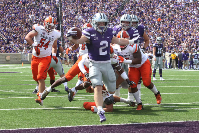 Harry Trotter was one of three different tailbacks to score for K-State in the first half.