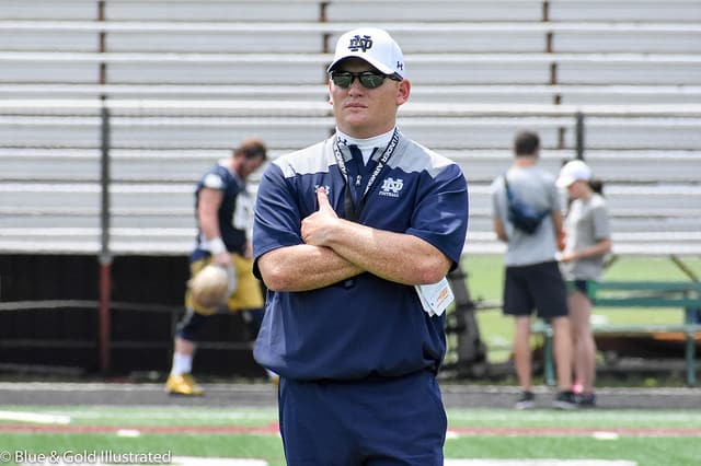 The Fighting Irish have posted a 32-6 record during Long's tenure in South Bend.