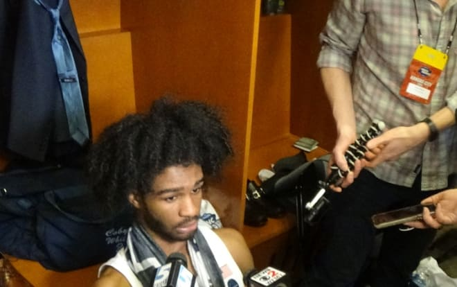 Coby White and some of the Tar Heels discuss their season ending with a loss to Auburn on Friday in the Sweet 16.