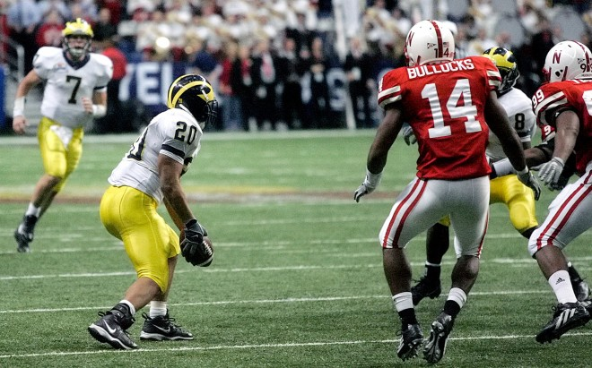 Michigan's final play saw eight laterals and covered 62 yards before finally coming to an end at the Husker 13-yard line.