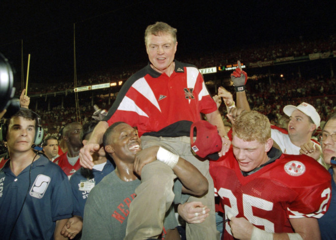 After 22 seasons as head coach at Nebraska, Tom Osborne finally got his first national championship with a 24-17 win over Miami in the Orange Bowl.