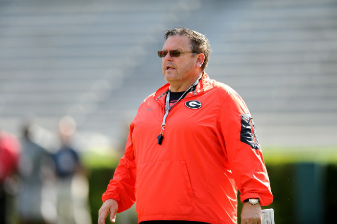 Sam Pittman (above) and Kirby Smart want bigger offensive linemen.