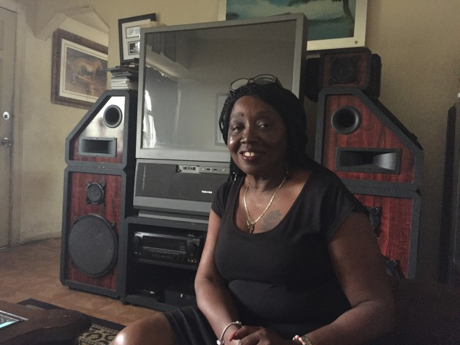 Betty Cook, the grandmother of Florida State tailback Dalvin Cook, poses for a photo in her Miami home.