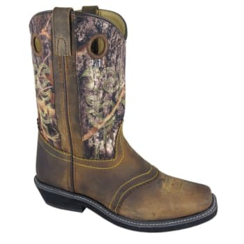 8f6eca4a7 Smoky Mountain Women s Pawnee Brown Camo Oil Leather Square Toe Boots 6360