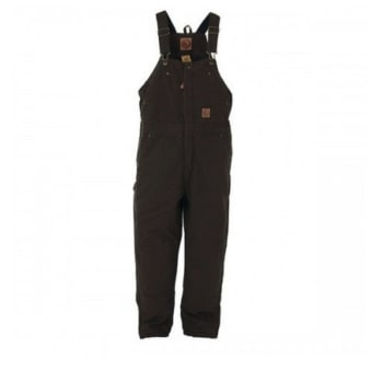 f0e2c10581422 Berne Youth Washed Insulated Bib Overall - Olive BB21