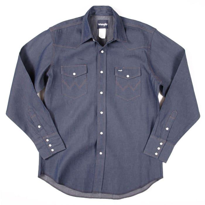 8134b79d Wrangler Western Work Denim Shirt MS70119