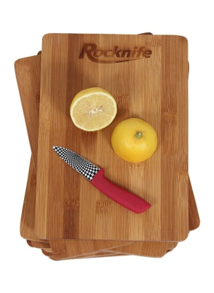 8 inch by 11 inch chopping boards with lemon