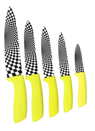 Lime Green Ceramic Kitchen Knives