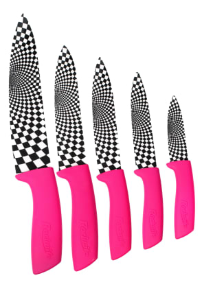 Pink Ceramic Kitchen Knives