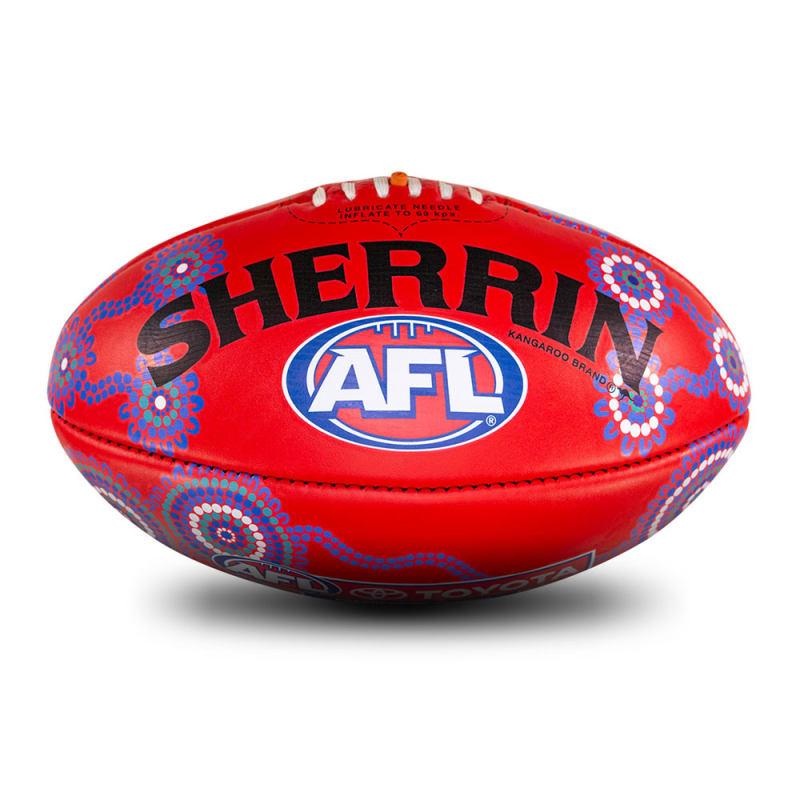 Sir Doug Nicholls Round Game Ball - Red