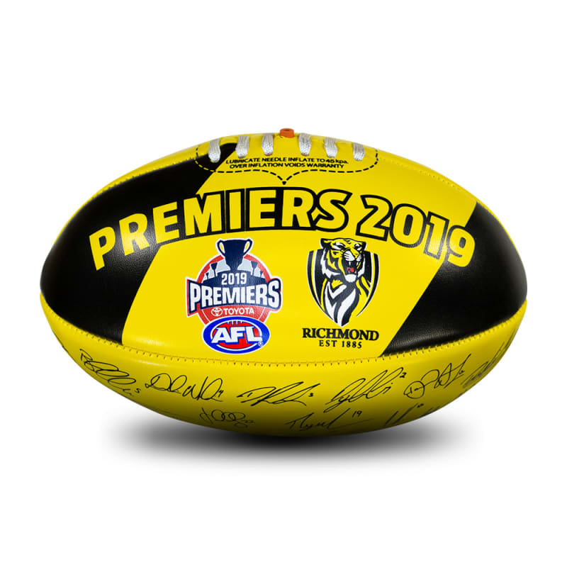 2019 Richmond Tigers Autograph Premiers Ball - Size 3