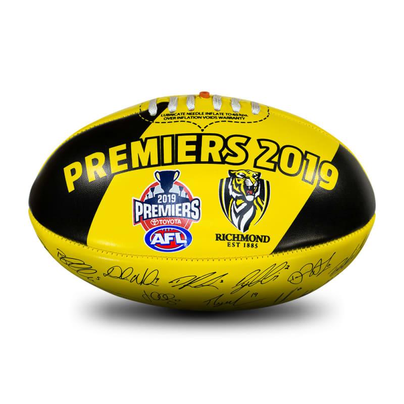 2019 Richmond Tigers Autograph Premiers Ball - Size 3