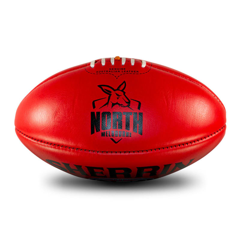 AFL Team Leather Ball - North Melbourne