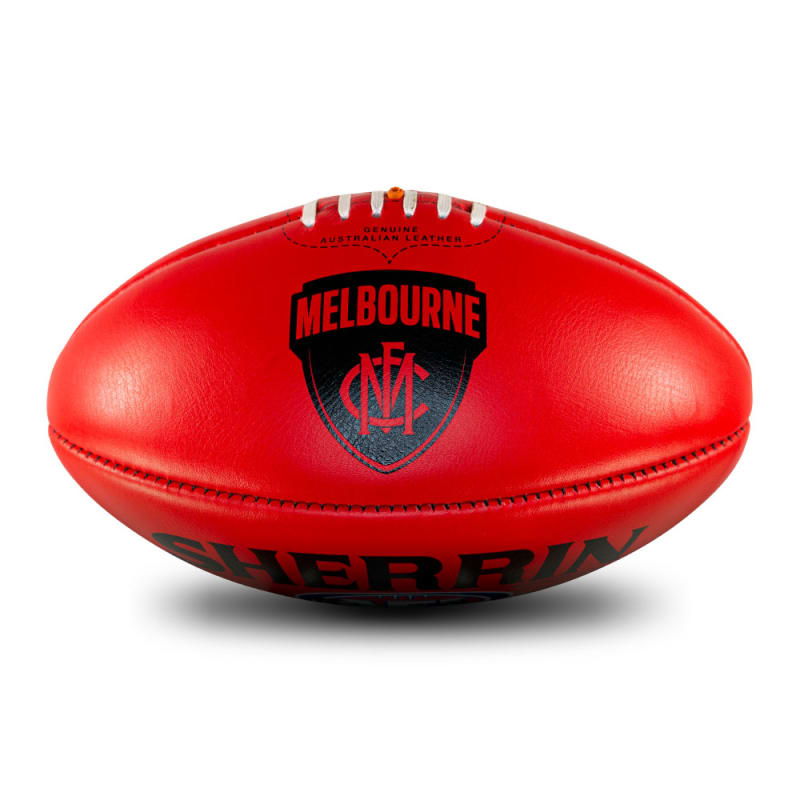 AFL Team Leather Ball - Melbourne