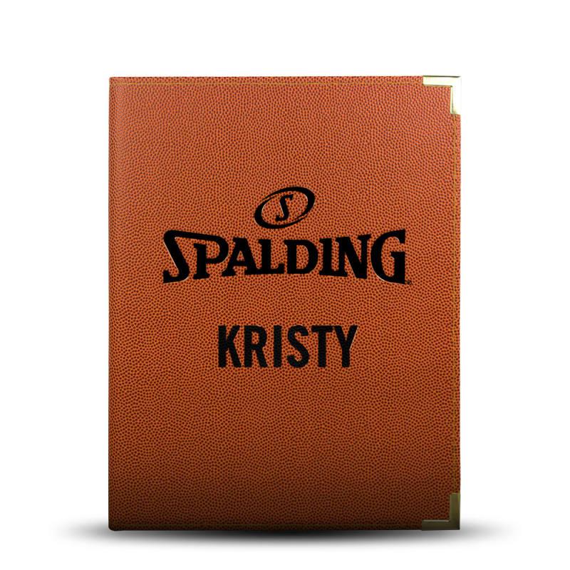 Personalised Spalding Folder - A4 Orange