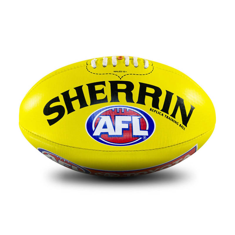 AFL Replica Training Ball - Yellow - Size 4