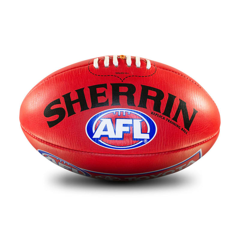AFL Replica Training Ball - Red - Size 4