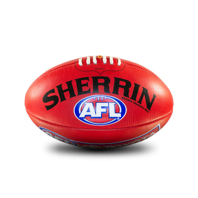 AFL Replica Training Ball - Red - Size 2
