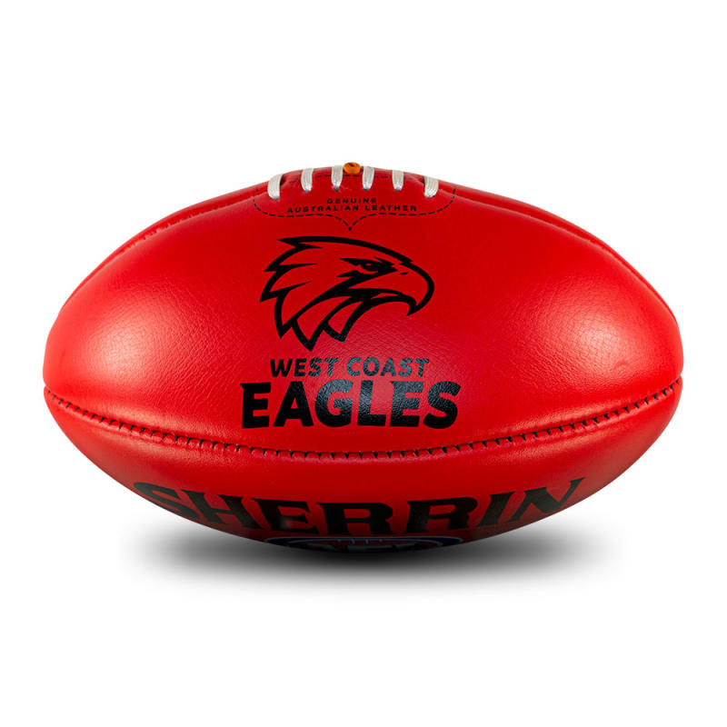 AFL Team Leather Ball - West Coast Eagles
