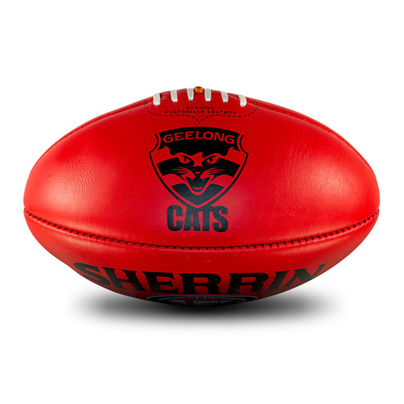 AFL Team Leather Ball - Geelong