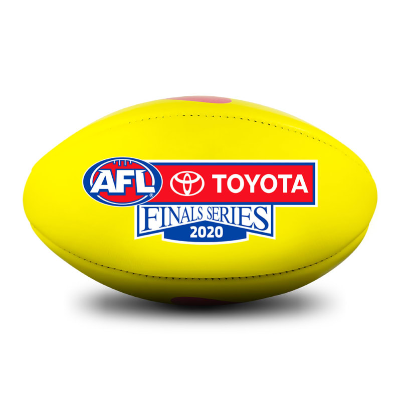 2020 Toyota AFL Finals Series Game Ball - Yellow