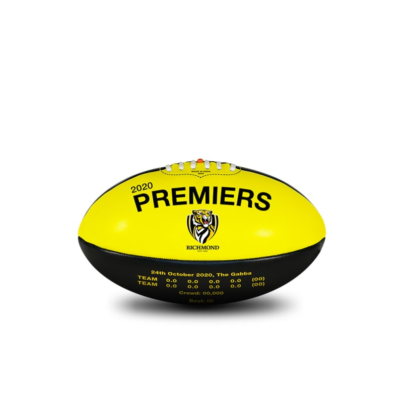 2020 Richmond Tigers Premiers Ball - 20cm
