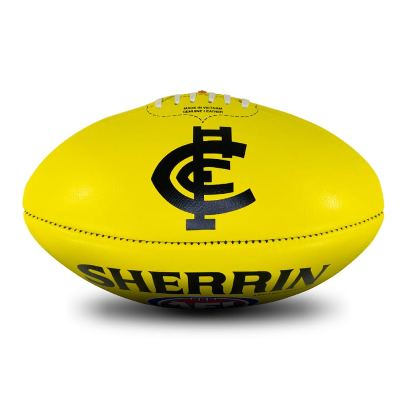 AFL Team Leather Ball - Carlton