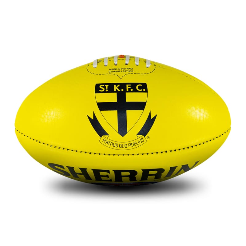 AFL Team Leather Ball - St. Kilda