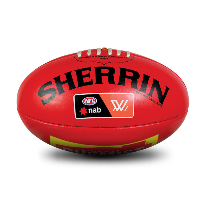 AFLW Replica PVC Ball - Red