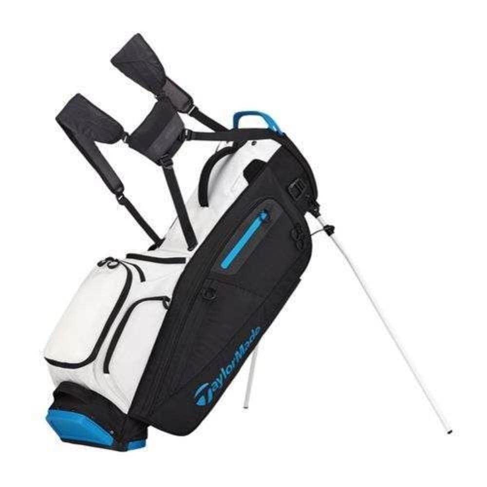Taylormade Golf Bag >> Taylormade Golf Flextech Stand Bag White Black Blue