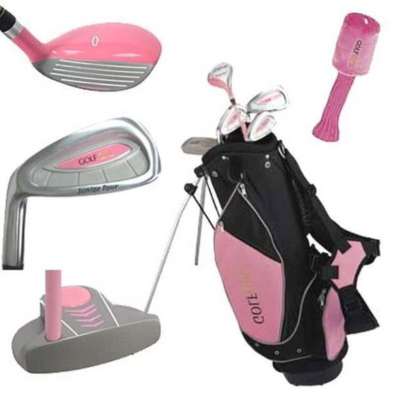 Golf Girl Pink Junior Set inc Bag - Left Hand