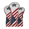 Ram Golf USA Stars and Stripes PU Leather Headcover Set For Driver, #3 Wood, Hybrid #