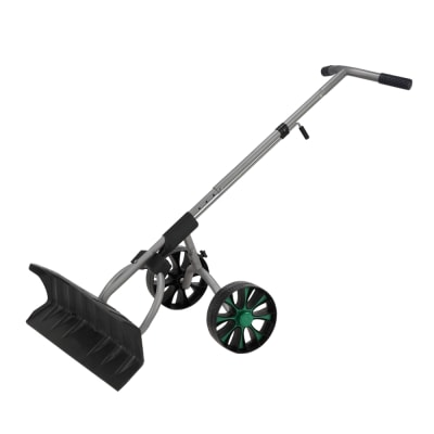 North Gear Heavy Duty Wheeled Dual Grip Snow Pusher / Snowplow