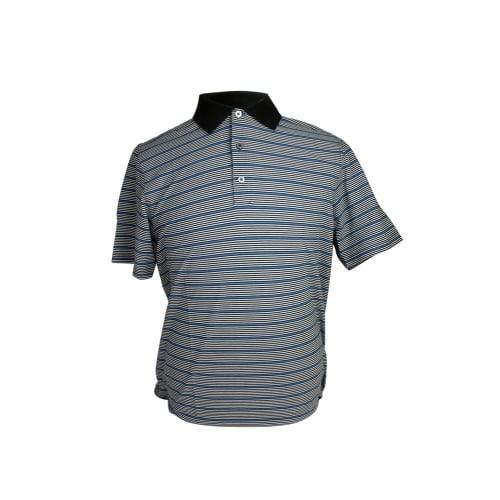 Ashworth Mens Fine Striped Polo Shirt