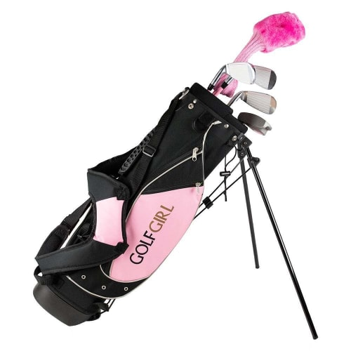 GolfGirl Pink Girls Junior Set inc Bag