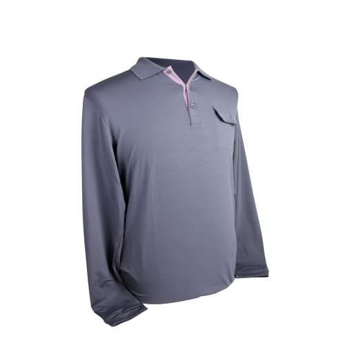 Adidas Mens AdiPure Box Pleat Long Sleeve Polo