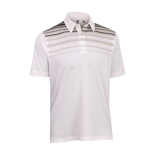 Ashworth Mens Striped Print Polo