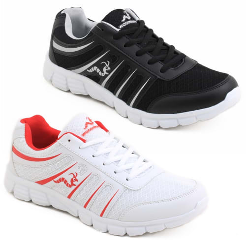 2 x Woodworm SGS Mens Running Shoes / Trainers