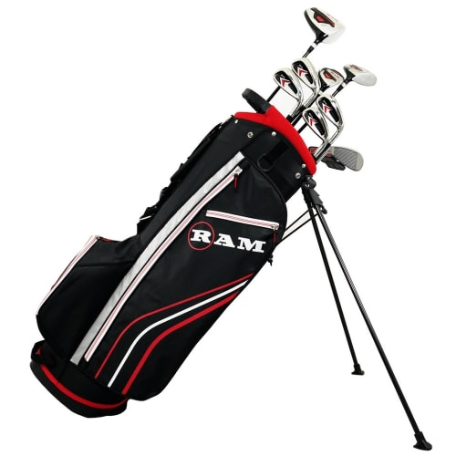 Ram Golf Accubar 1 Inch Longer 13pc Golf Clubs Set - Graphite Shafted Woods, Steel Shafted Irons - Mens Right Hand