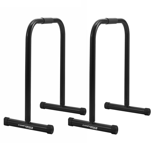 Confidence Fitness Parallette Dip Bars - Steel Dip Station