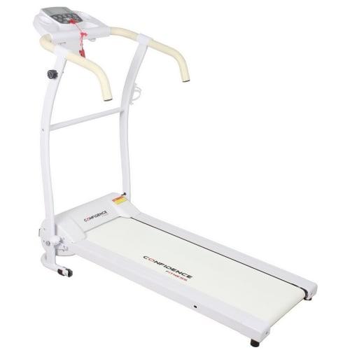 Confidence Fitness TP-1 Electric Treadmill Folding Motorised Running Machine - White