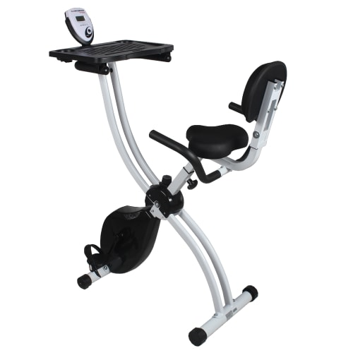 Confidence Fitness Folding Exercise Bike with Desk