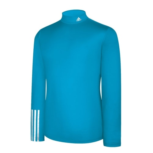 Adidas Mens Compression Logo Long Sleeve - Aqua